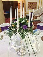 Канделябры с живыми цветами, фото 1