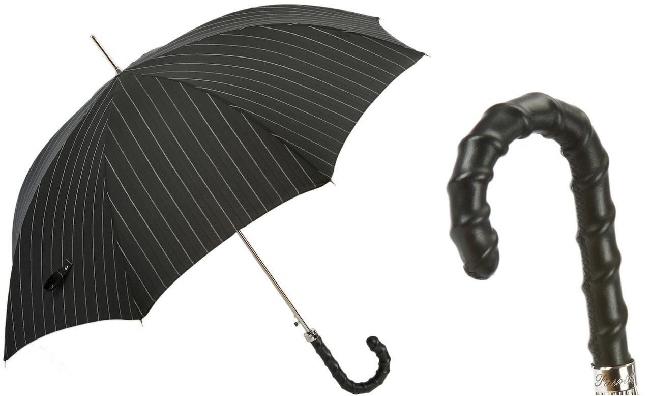 Мужской зонт ручной работы. Производство Италия