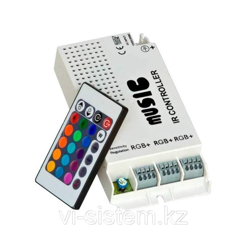 Музыкальный контроллер для светодиодной RGB ленты с пультов дистанционного управления