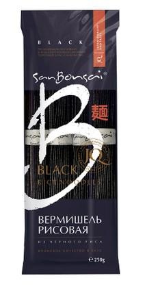 Вермишель из черного риса San Bonsai