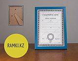 Рамка А4 прямая Синяя, фоторамки любого цвета, рамки темно-синие и светлосиние, фото 2