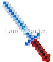 Меч Майнкрафт (Minecraft) с звуковым эффектом красно белый 58 см