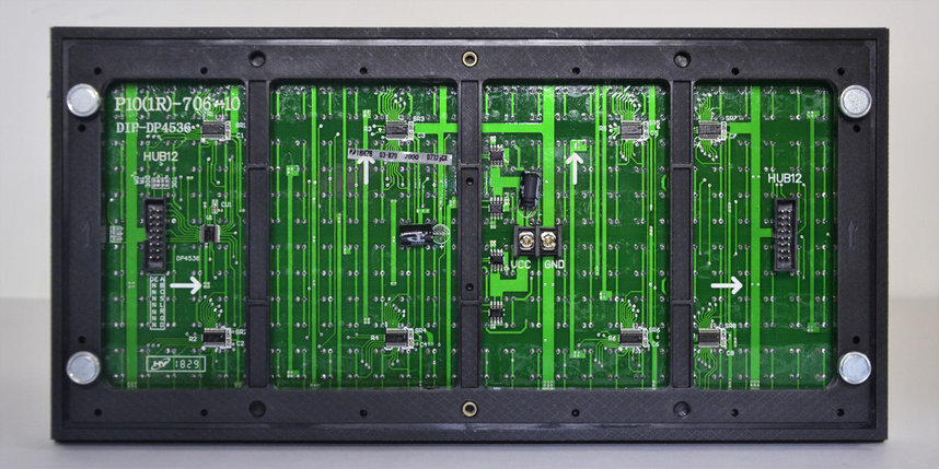 "Электронное табло ""бегущая строка"" зеленого цвета , фото 2"