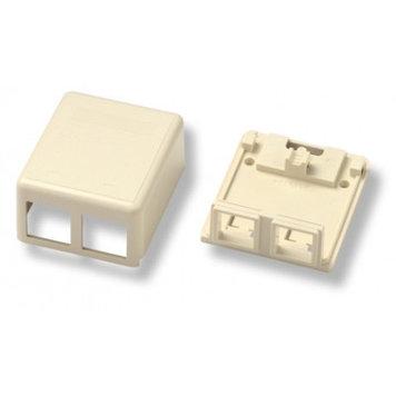 Коробка для настенного монтажа AMP, внешняя, 2 модуля, цвет: белый, размер наружный: 65
