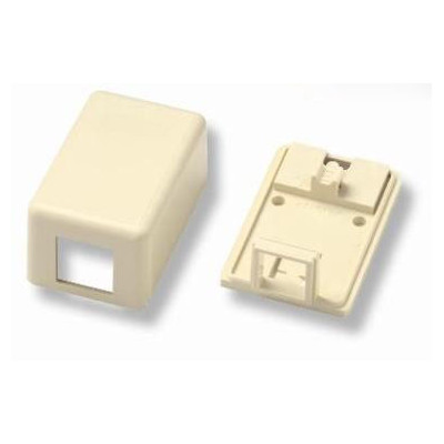 Коробка для настенного монтажа AMP, внешняя, 1 модуль, цвет: белый, размер наружный: 65х43