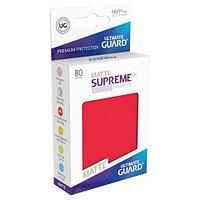 Протекторы 66х91, 80шт. Ultimate Guard Premium, Матовые красные