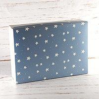 """Подарочная коробка """"Звёзды"""". Размер: 35*25*9."""