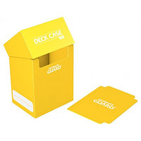 Коробочка для карт Deck case на 80шт, Ultimate Guard, цвет желтый