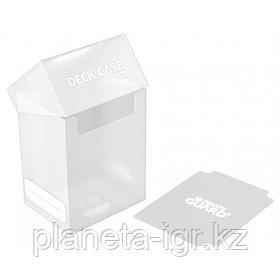 Коробочка для карт Deck case на 80шт, Ultimate Guard, цвет прозрачная