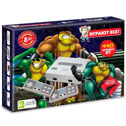 Игровая приставка Dendy Battle Toads 440 игр+пистолет