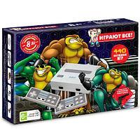 Игровая приставка Dendy Battle Toads 440 игр+пистолет, фото 1