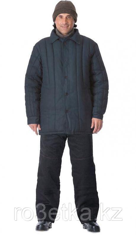 Куртка утеплённая рабочая (диагональ, 2,6 кг ваты) чёрная