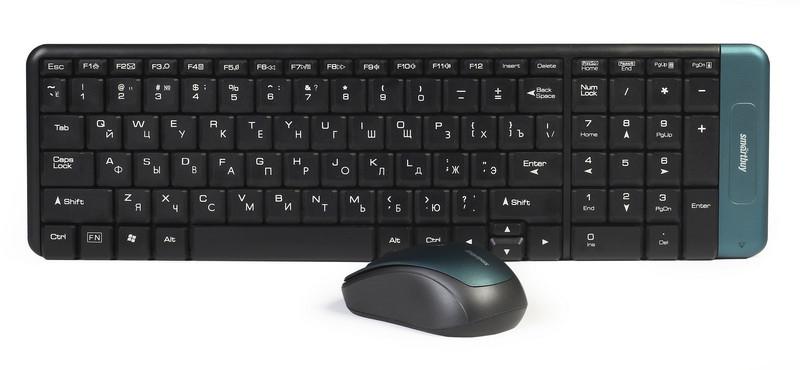 Комплект клавиатура+мышь мультимедийный Smartbuy 222358AG
