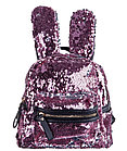 Рюкзак детский с ушками от Аминка витаминка (розовый/серебро)