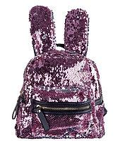 Рюкзак детский с ушками от Аминка витаминка (розовый/серебро), фото 1