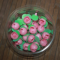 Вафельные декоративные украшения розочки розовые