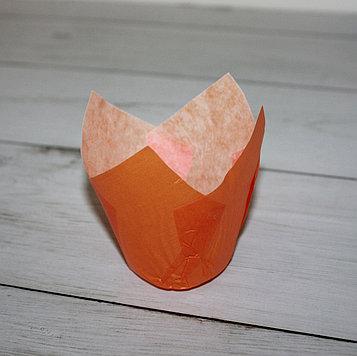 Бумажные тюльпаны для выпечки оранжевая