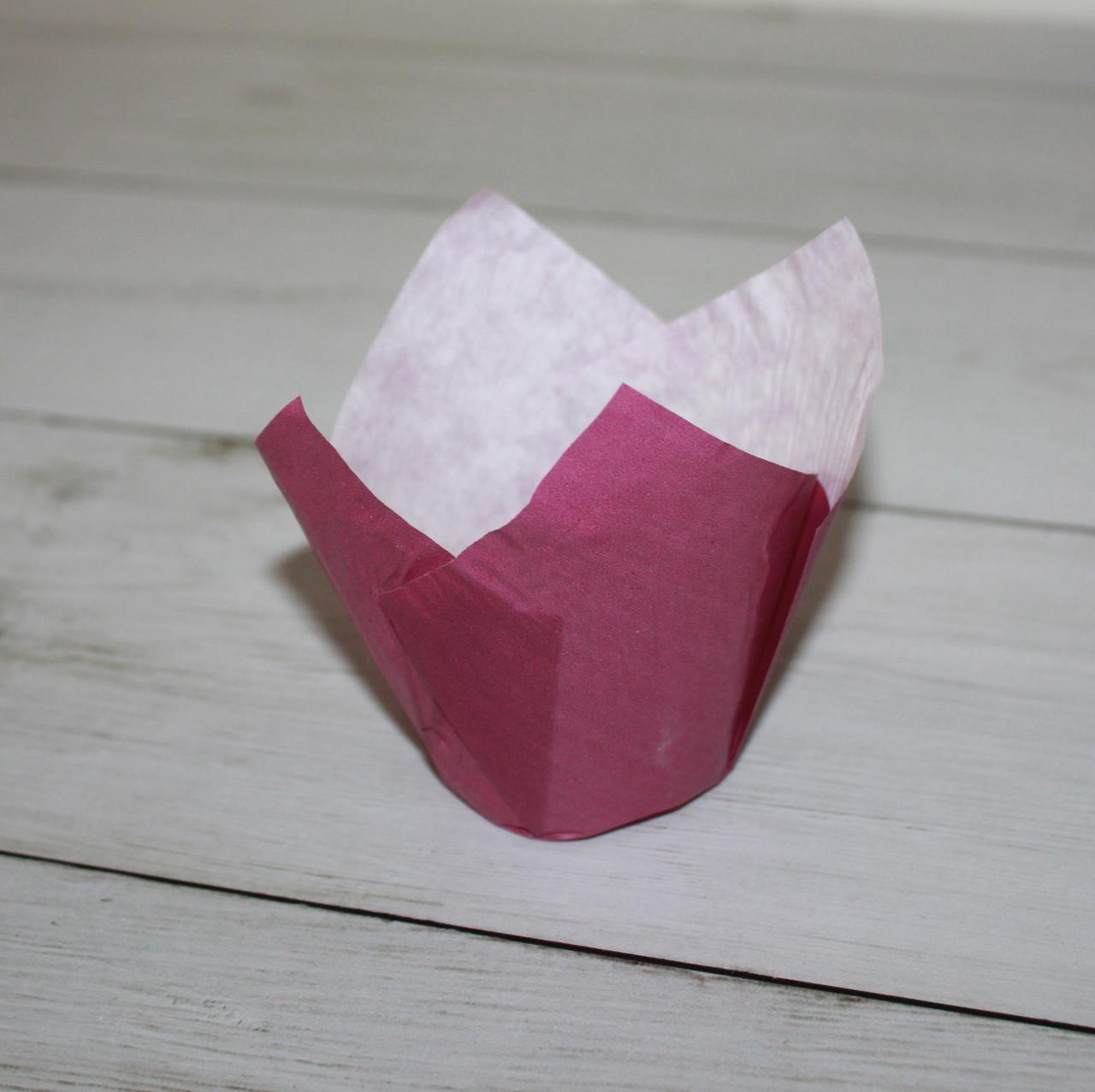 Бумажные тюльпаны для выпечки фиолетовая