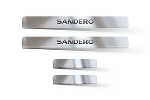 Накладки в проем дверей (4шт) (НПС) RENAULT Sandero / S.Stepway 2014-