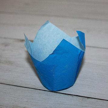Бумажные тюльпаны для выпечки голубая