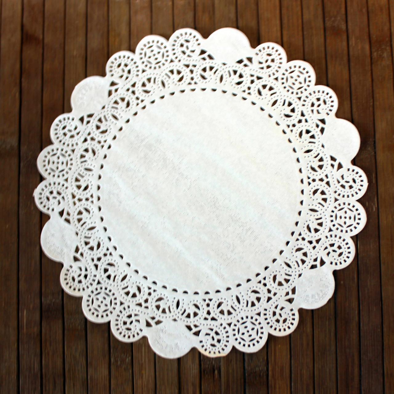 Салфетки ажурные бумажные 24 см