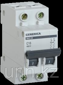 Автоматический выключатель ВА47-29 2Р 25А 4,5кА х-ка С GENERICA, фото 2