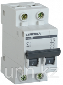 Автоматический выключатель ВА47-29 2Р 63А 4,5кА х-ка С GENERICA, фото 2