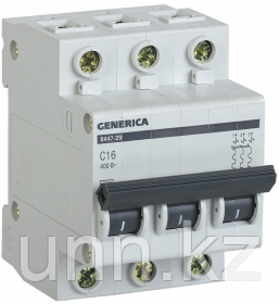 Автоматический выключатель ВА47-29 3Р 6А 4,5кА х-ка С GENERICA