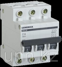 Автоматический выключатель ВА47-29 3Р 6А 4,5кА х-ка С GENERICA, фото 2