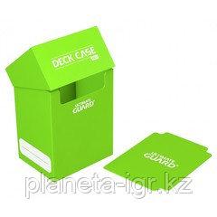 Коробочка для карт Deck case на 80шт, Ultimate Guard, цвет светло-зеленый