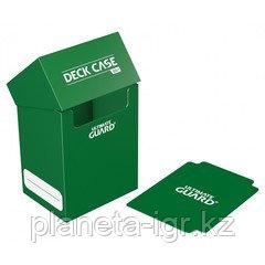 Коробочка для карт Deck case на 80шт, Ultimate Guard, цвет зеленый