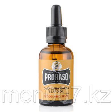 PRORASO Wood & Spice (Масло для бороды)