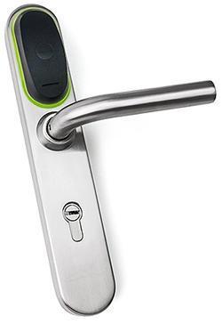 Электронная накладка на дверной замок стандарта DIN с питанием от батареек Модель: Eurolock EHT net