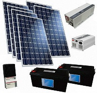 Солнечная электростанция 9.6 кВт/сутки(24В)