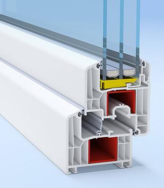 Профиль для производства пластиковых конструкций Deceuninck Favorite Space 76