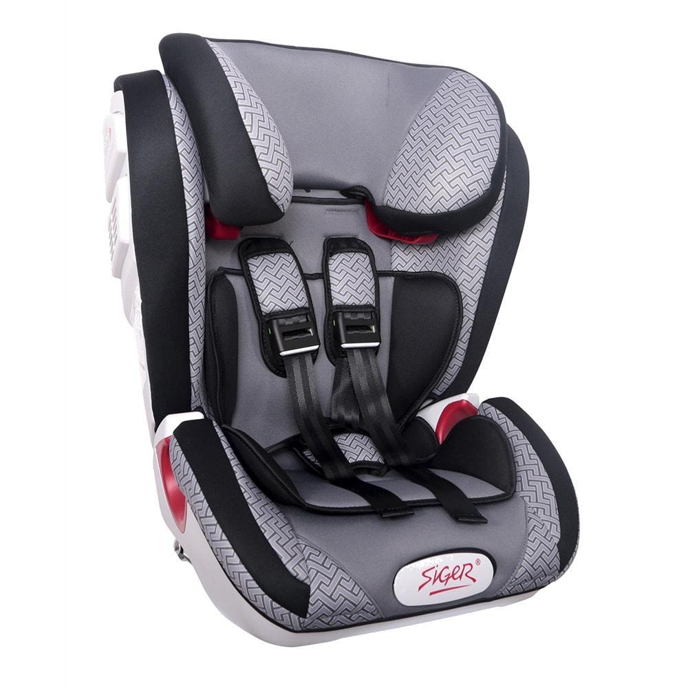 """Детское автомобильное кресло SIGER """"Индиго ISOFIX"""" черный, 1-12 лет, 9-36 кг"""