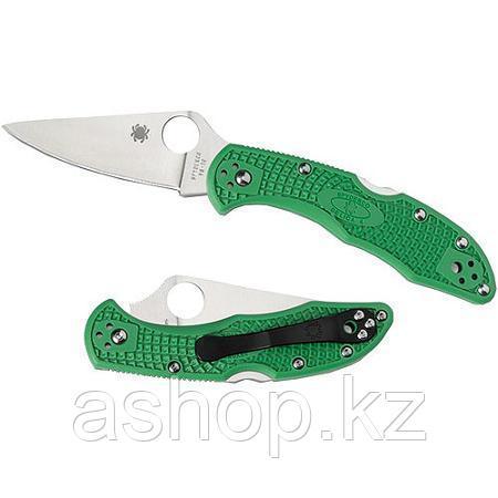 Нож складной Spyderco Delica 4 Lightweight Flat Ground , Общая длина: 182 мм, Толщина лезвия: 2,5 мм, Длина кл