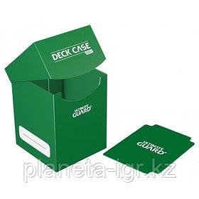 Коробочка для карт Deck case на 100шт, Ultimate Guard, цвет темно-зеленый