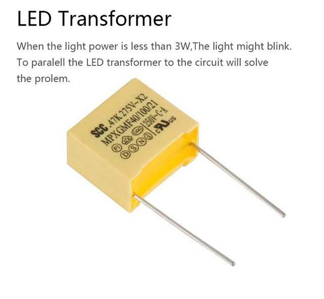 Противобликовый конденсатор сенсорного выключателя TLINK
