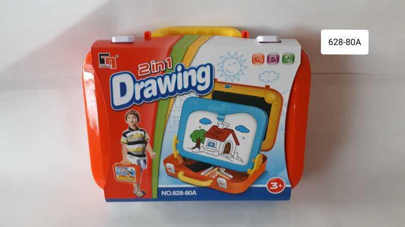 Доска для рисования в чемодане 2 в 1