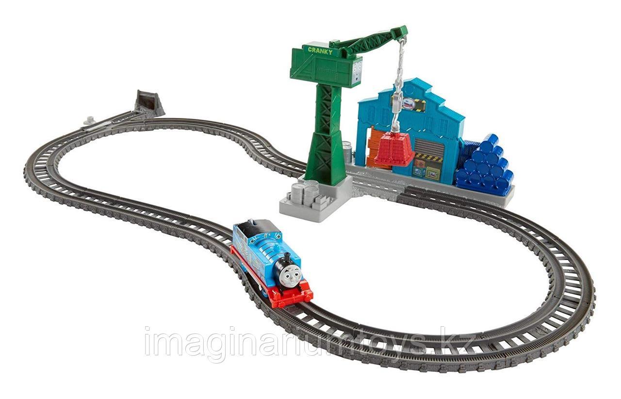 Железная дорога с паровозиком Томасом «Разрушение на пристани»
