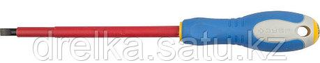 """ЗУБР """"ПРОФИ ЭЛЕКТРИК"""". Отвертка Cr-V, трехкомпонент рукоятка, высоковольтная до ~1000В, SL, 6,5x150 мм, фото 2"""