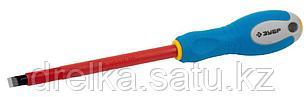 """ЗУБР """"ПРОФИ ЭЛЕКТРИК"""". Отвертка Cr-V, трехкомпонент рукоятка, высоковольтная до ~1000В, SL, 8,0x175 мм, фото 2"""