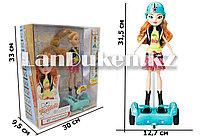 Кукла радиоуправляемая на гироскутере с аксессуарами высота куклы 28