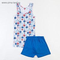 Комплект для мальчика (майка, трусы-боксеры), рост 146 см (76), цвет синий