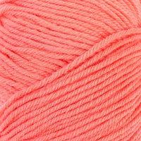 Пряжа 'Детский каприз тёплый' 50меринос. шерсть, 50фибра 125м/50гр (1128 красный коралл) (комплект из 5 шт.)