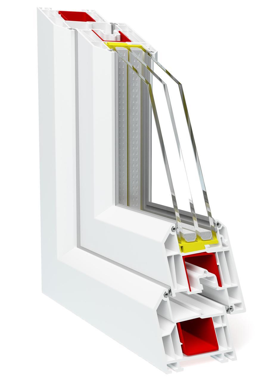 Профиль для производства пластиковых конструкций Deceuninck Баутек НЕО 71 мм