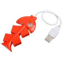 USB 4 PORTS HUB V-T HU190 (Рыбка)