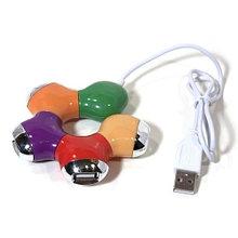 USB 4 PORTS HUB V-T HU94 (Цветочек)