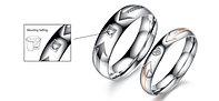 """Двойные кольца """"Пылкие чувства""""*, фото 1"""